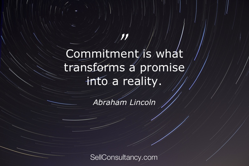 Commitment - Selling Consultancy Services